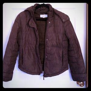 Brown Calvin Klein duck down winter jacket